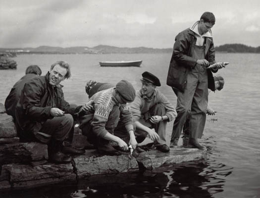 "Fishermen at ""1942 - Noen å stole på"". Photo copyright (c) 2000-2010 Britta Bergersen"